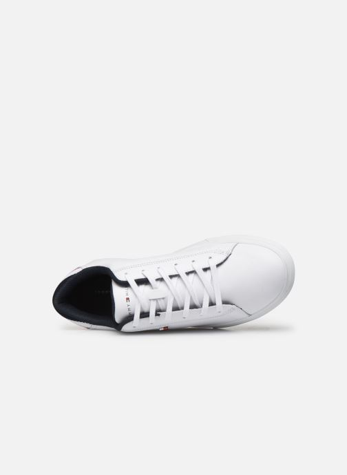 Sneakers Tommy Hilfiger ESSENTIAL LEATHER DETAIL CUPSOLE Hvid se fra venstre