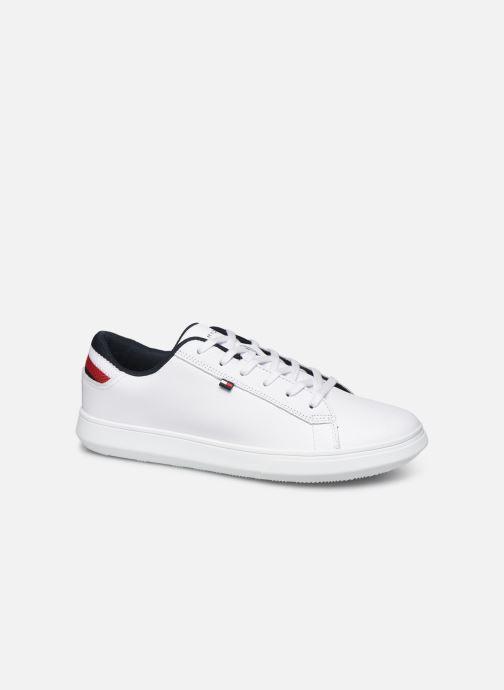 Sneakers Tommy Hilfiger ESSENTIAL LEATHER DETAIL CUPSOLE Hvid detaljeret billede af skoene