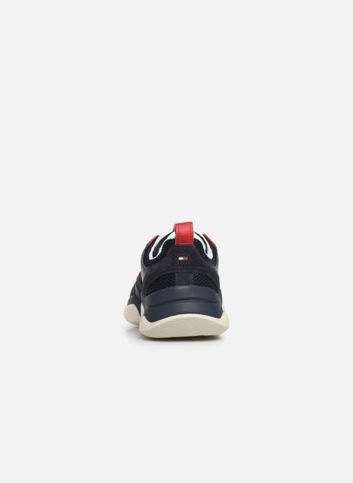 Baskets Tommy Hilfiger CHUNKY MATERIAL MIX TRAINER Bleu vue droite