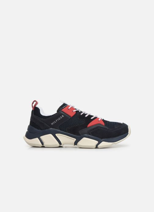 Sneakers Tommy Hilfiger CHUNKY MATERIAL MIX TRAINER Blauw achterkant