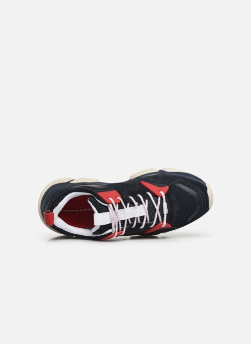 Sneakers Tommy Hilfiger CHUNKY MATERIAL MIX TRAINER Blauw links