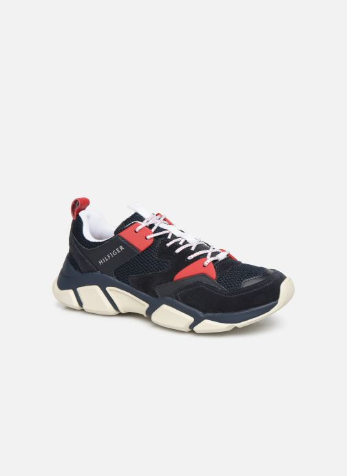 Sneakers Tommy Hilfiger CHUNKY MATERIAL MIX TRAINER Blauw detail