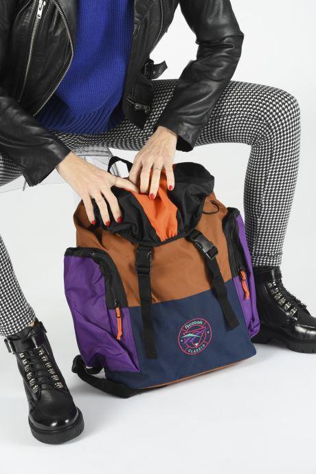 Rucksäcke Reebok CL TRAIL BACKPACK mehrfarbig ansicht von unten / tasche getragen