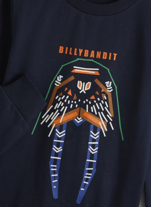 Vêtements Billybandit Sweat V25484 Bleu vue portées chaussures