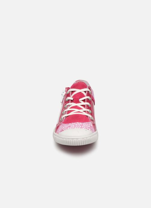 Baskets Pataugas Bisk/Po J2C Rose vue portées chaussures