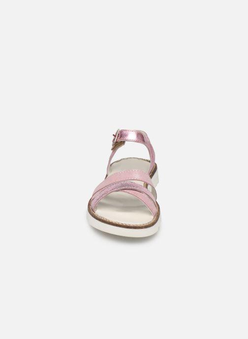 Sandales et nu-pieds Pataugas Edith/M J2C Rose vue portées chaussures