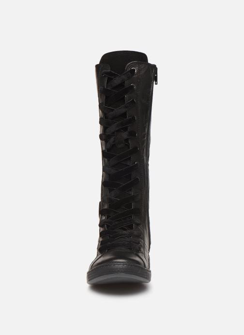 Bottes Pataugas Jina/N F4C Noir vue portées chaussures