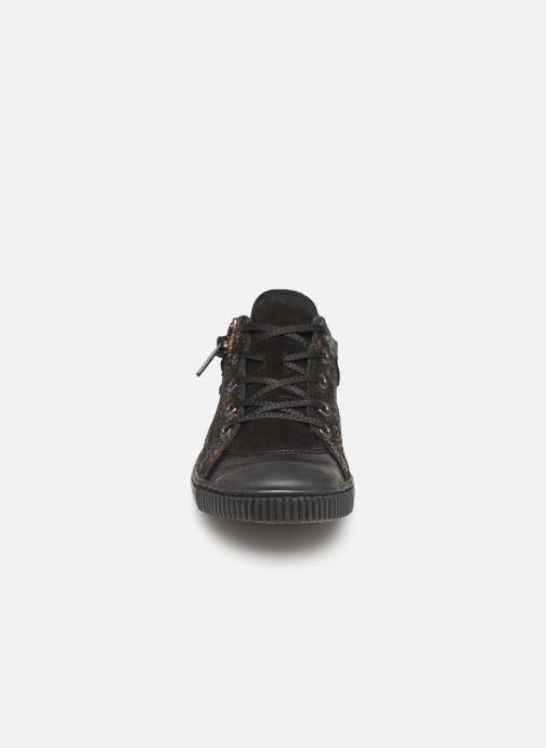 Baskets Pataugas Bisk J4C Or et bronze vue portées chaussures