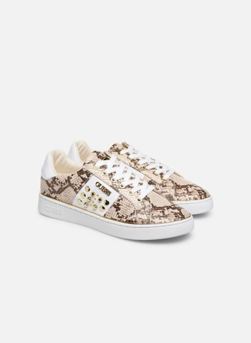 Baskets Guess FL7BRAPEL12 Beige vue 3/4