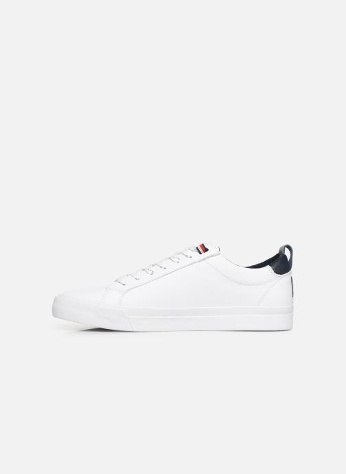 Sneakers Tommy Hilfiger FLAG DETAIL LEATHER SNEAKER AH19 Wit voorkant