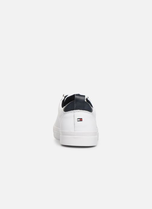 Baskets Tommy Hilfiger FLAG DETAIL LEATHER SNEAKER AH19 Blanc vue droite