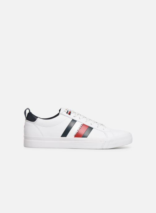Sneakers Tommy Hilfiger FLAG DETAIL LEATHER SNEAKER AH19 Wit achterkant