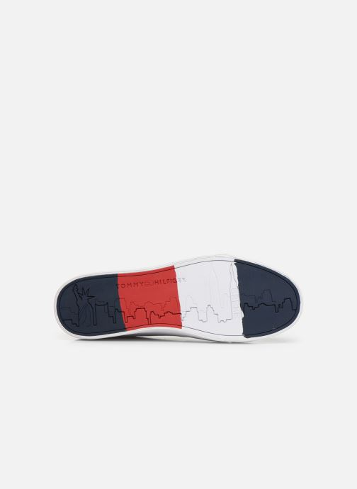 Sneakers Tommy Hilfiger FLAG DETAIL LEATHER SNEAKER AH19 Wit boven