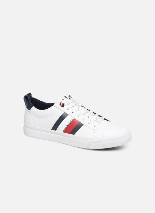 Sneakers Tommy Hilfiger FLAG DETAIL LEATHER SNEAKER AH19 Wit detail