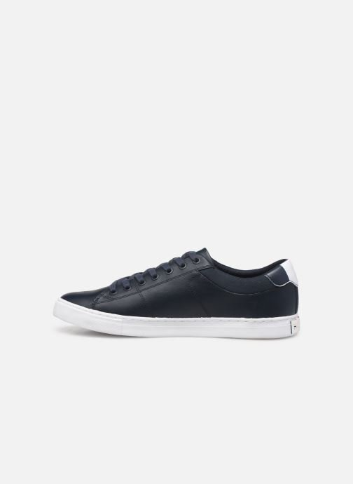 Baskets Tommy Hilfiger ESSENTIAL LEATHER COLLAR VULC Noir vue face