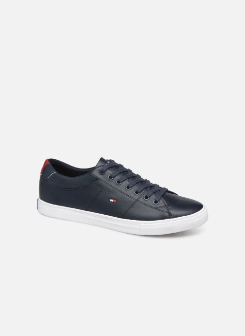 Baskets Tommy Hilfiger ESSENTIAL LEATHER COLLAR VULC Noir vue détail/paire