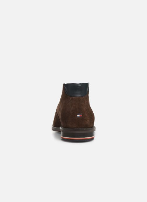 Boots en enkellaarsjes Tommy Hilfiger SIGNATURE HILFIGER SUEDE BOOT Bruin rechts
