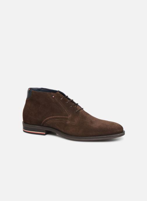 Bottines et boots Tommy Hilfiger SIGNATURE HILFIGER SUEDE BOOT Marron vue détail/paire