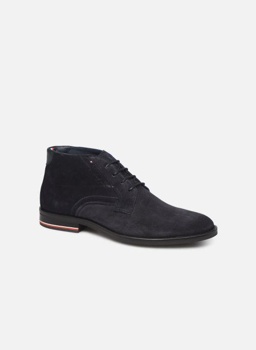 Ankelstøvler Tommy Hilfiger SIGNATURE HILFIGER SUEDE BOOT Blå detaljeret billede af skoene