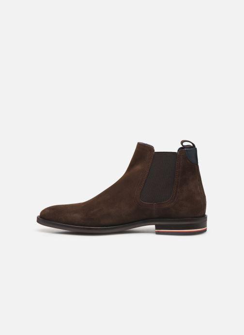 Stiefeletten & Boots Tommy Hilfiger SIGNATURE HILFIGER SUEDE CHELSEA braun ansicht von vorne