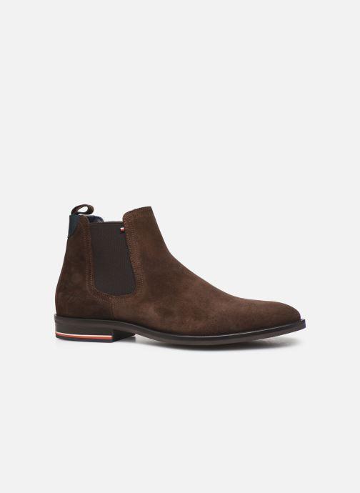 Boots en enkellaarsjes Tommy Hilfiger SIGNATURE HILFIGER SUEDE CHELSEA Bruin achterkant