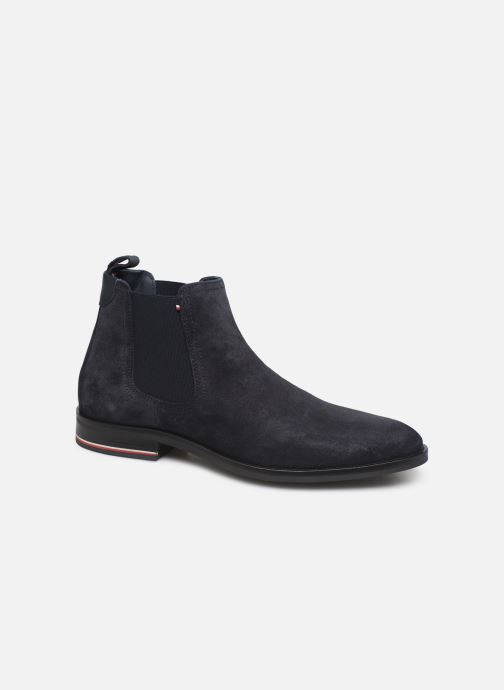 Bottines et boots Tommy Hilfiger SIGNATURE HILFIGER SUEDE CHELSEA Bleu vue détail/paire