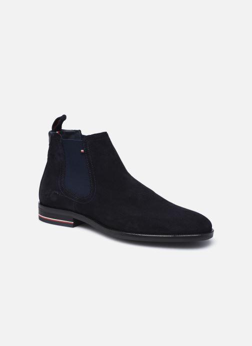 Boots en enkellaarsjes Tommy Hilfiger SIGNATURE HILFIGER SUEDE CHELSEA Blauw detail