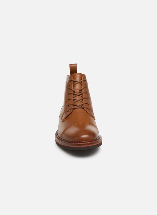 Bottines et boots Tommy Hilfiger SMOOTH LEATHER LACE UP BOOT Marron vue portées chaussures