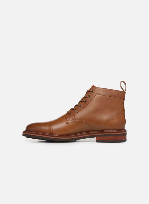 Boots en enkellaarsjes Tommy Hilfiger SMOOTH LEATHER LACE UP BOOT Bruin voorkant