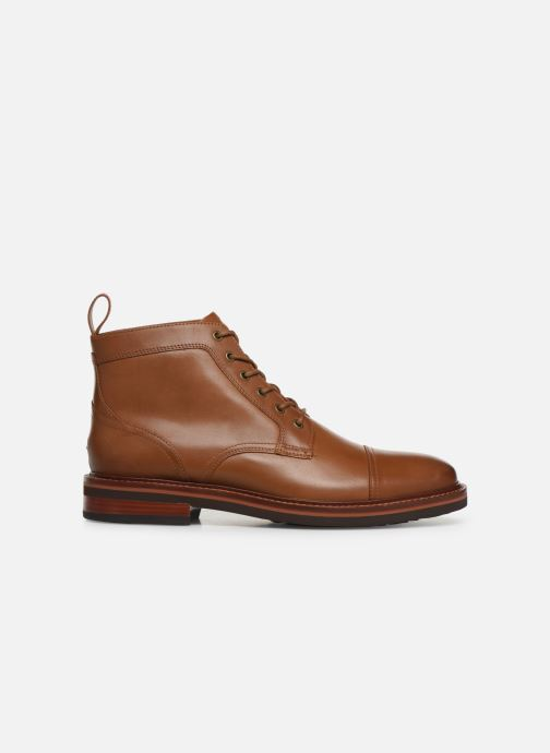 Bottines et boots Tommy Hilfiger SMOOTH LEATHER LACE UP BOOT Marron vue derrière