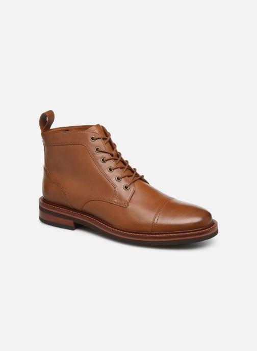 Bottines et boots Tommy Hilfiger SMOOTH LEATHER LACE UP BOOT Marron vue détail/paire