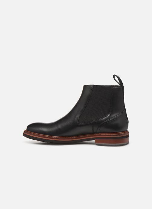 Boots en enkellaarsjes Tommy Hilfiger SMOOTH LEATHER CHELSEA BOOT Zwart voorkant