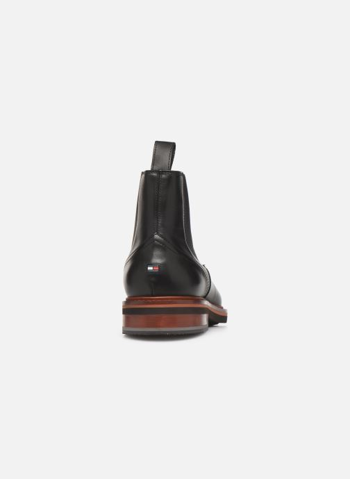 Boots en enkellaarsjes Tommy Hilfiger SMOOTH LEATHER CHELSEA BOOT Zwart rechts
