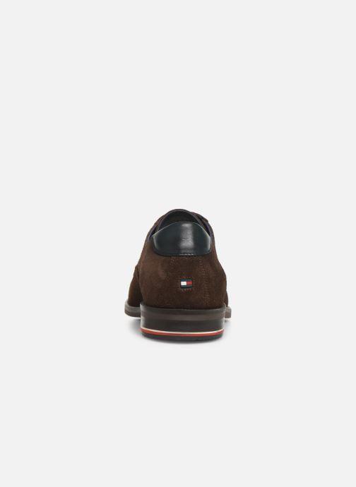 Chaussures à lacets Tommy Hilfiger SIGNATURE HILFIGER SUEDE SHOE Marron vue droite
