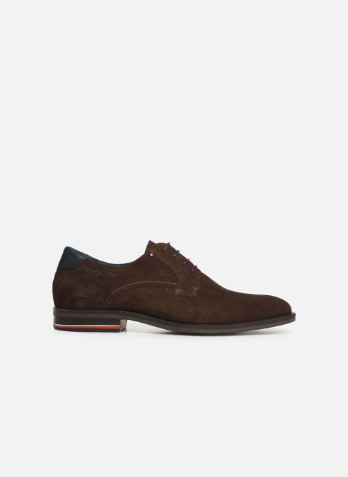 Chaussures à lacets Tommy Hilfiger SIGNATURE HILFIGER SUEDE SHOE Marron vue derrière