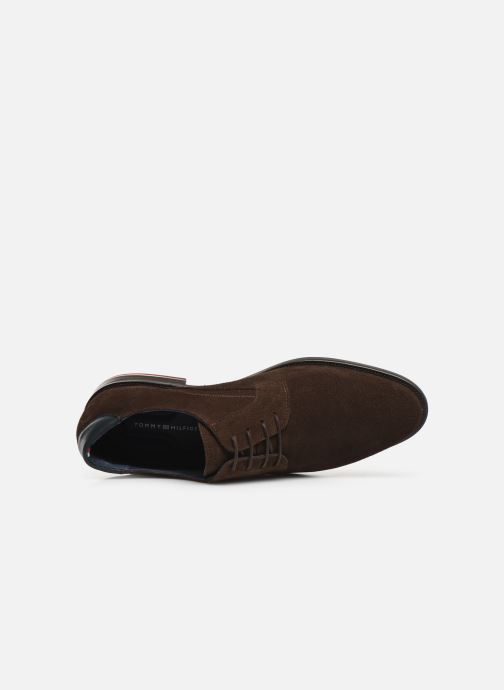 Veterschoenen Tommy Hilfiger SIGNATURE HILFIGER SUEDE SHOE Bruin links