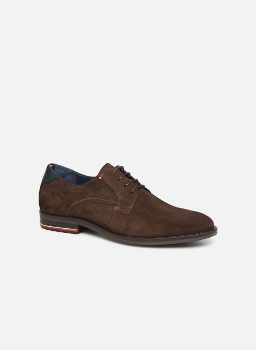 Chaussures à lacets Tommy Hilfiger SIGNATURE HILFIGER SUEDE SHOE Marron vue détail/paire