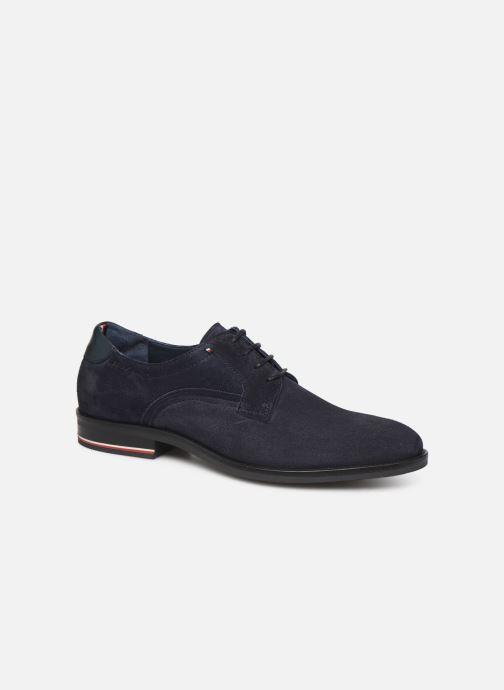 Chaussures à lacets Tommy Hilfiger SIGNATURE HILFIGER SUEDE SHOE Bleu vue détail/paire