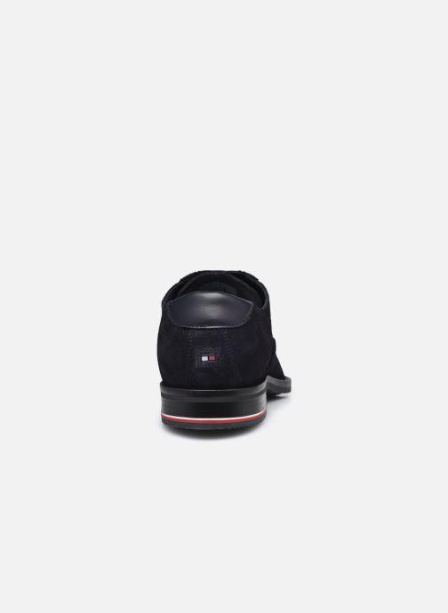 Zapatos con cordones Tommy Hilfiger SIGNATURE HILFIGER SUEDE SHOE Azul vista lateral derecha