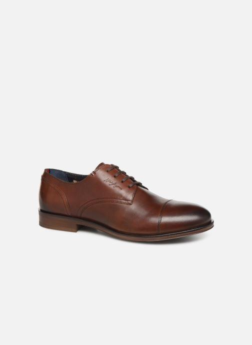 Chaussures à lacets Tommy Hilfiger DRESS CASUAL TOECAP BOOT Marron vue détail/paire