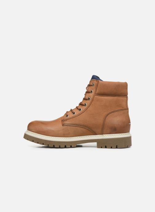 Bottes Tommy Hilfiger TOMMY JEANS OUTDOOR NUBUCK BOOT Marron vue face