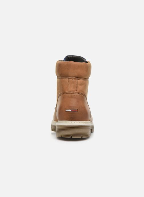 Bottes Tommy Hilfiger TOMMY JEANS OUTDOOR NUBUCK BOOT Marron vue droite
