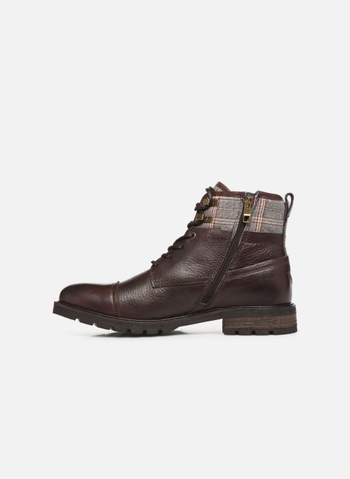 Ankle boots Tommy Hilfiger WINTER LEATHER TEXTILE MIX BOOT Brown front view