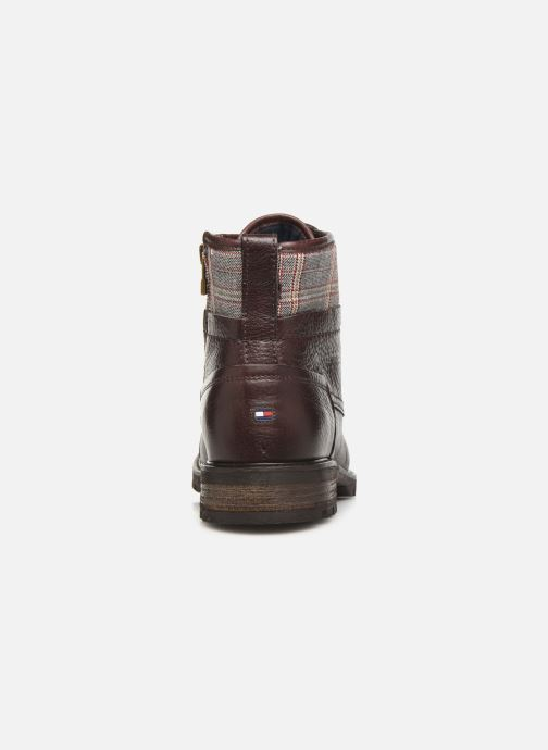Ankle boots Tommy Hilfiger WINTER LEATHER TEXTILE MIX BOOT Brown view from the right