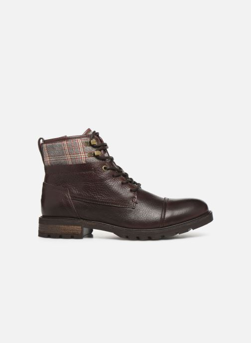 Ankle boots Tommy Hilfiger WINTER LEATHER TEXTILE MIX BOOT Brown back view