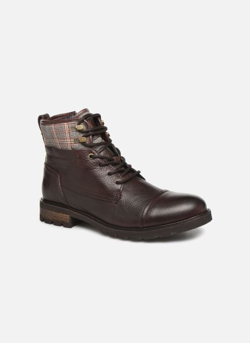 Ankle boots Tommy Hilfiger WINTER LEATHER TEXTILE MIX BOOT Brown detailed view/ Pair view