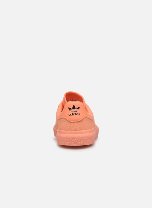 Baskets adidas originals 3Mc W Orange vue droite