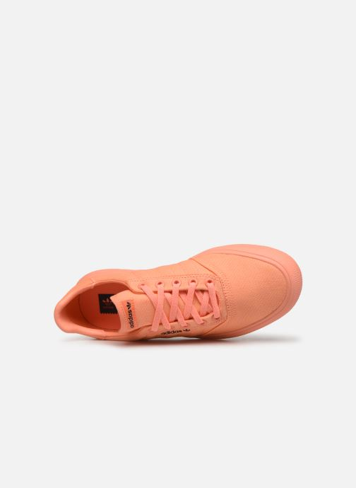 Baskets adidas originals 3Mc W Orange vue gauche