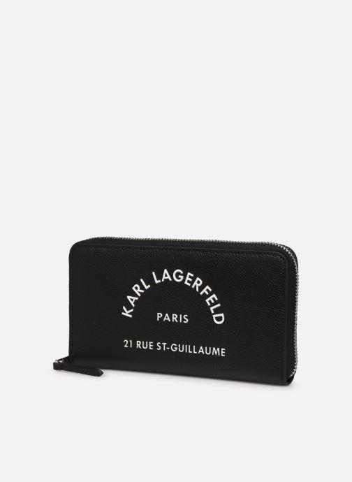 Petite Maroquinerie Karl Lagerfeld RUE SAINT GUILLAUME ZIP WALLET Noir vue portées chaussures