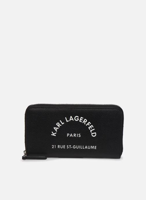 Petite Maroquinerie Karl Lagerfeld RUE SAINT GUILLAUME ZIP WALLET Noir vue détail/paire